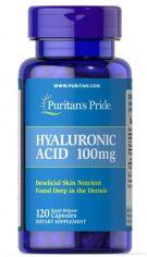 Акция на Puritan's Pride Hyaluronic Acid 100 mg Гиалуроновая кислота 120 капсу от Y.UA