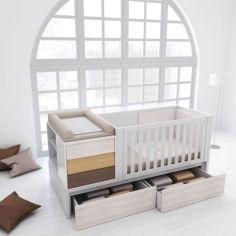 Акция на Кровать-трансформер для новорожденного 3 в 1 инст 7 белый / Сонома 175 * 74 * 107 от Allo UA