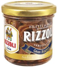 Акция на Анчоусы Rizzoli в оливковом масле рулеты 165 г (8005960500982) от Rozetka