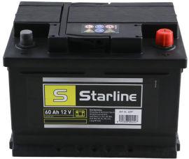 Акция на Автомобильный аккумулятор StarLine 60Ah (-/+) Euro (540EN) (S BA SL 60P) от Rozetka