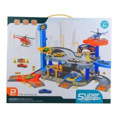 Акция на Автотрек Shantou Jinxing Паркинг с машинками 54 детали (P7888) от Будинок іграшок