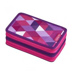 Акция на Пенал с наполнением 31 предмет Herlitz Triple Cubes Pink Кубики розовые (50021062) от Y.UA