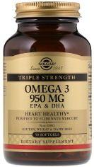 Акция на Solgar Omega-3 950 mg Triple Strength 50 caps Омега-3, ЭПК и ДГК, тройная сила от Y.UA