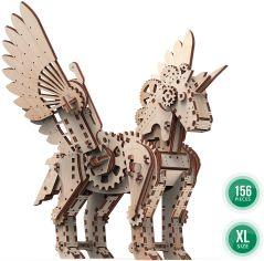 Акция на Механический деревянный 3D-пазл Mr. PlayWood Механический единорог 44,7x28x4,3 см (10603) от Y.UA
