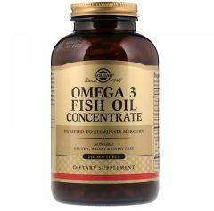 Акция на Solgar Omega-3 Fish Oil Concentrate, 240 Softgels от Stylus