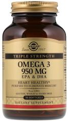 Акция на Solgar Omega-3 950 mg Triple Strength 50 caps Омега-3, ЭПК и ДГК, тройная сила от Stylus