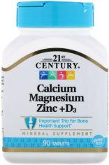 Акция на 21st Century Cal Mag Zinc + D3, 90 Tablets от Stylus