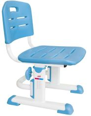 Акция на Стульчик Evo-kids EVO-301 Bl (арт.EVO-301 BL) белый металл / сиденье,спинка,накладки-голубые от Stylus