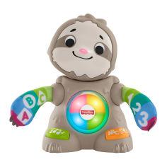 Акция на Интерактивная игрушка Fisher-Price Linkimals Танцующий ленивец на украинском (GXR58) от Будинок іграшок