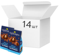Акция на Упаковка конфет Millennium Truff миндаль в молочном трюфеле 100 г х 14 шт (4820075507831) от Rozetka