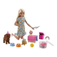 Акция на Кукольный набор Barbie Вечеринка для щенков (GXV75) от Будинок іграшок
