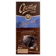 Акция на Шоколад черный с солью Світоч, 85 г от Auchan