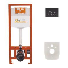 Акция на Инсталляция для унитаза Q-tap Nest комплект 4 в 1 с панелью смыва PL M11MBLA от Allo UA
