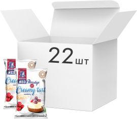 Акция на Упаковка каш овсяных Овсянушка Кремовый тарт с клюквой 40 г х 22 шт (4820039841919) от Rozetka