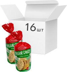 Акция на Упаковка хлебцы Жменька из булгура 100 г х 16 шт (4820152182814) от Rozetka