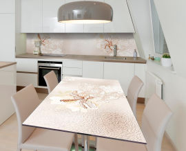 Акция на Виниловая 3D наклейка на стол Zatarga Сонный гибискус 650х1200 мм (Z185134/1st) от Rozetka