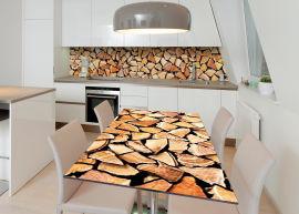Акция на Виниловая 3D наклейка на стол Zatarga Деревянные поленья 650х1200 мм (Z183253/1st) от Rozetka
