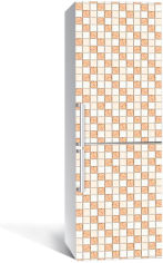 Акция на Виниловая 3D наклейка на холодильник Zatarga Бежевая мозаика 650х2000 мм (Z183237re) от Rozetka