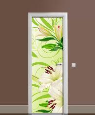 Акция на Виниловая 3D наклейка на дверь Zatarga Девственные лилии 650х2000 мм (Z181060dv) от Rozetka