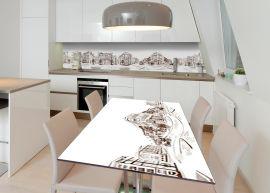 Акция на Виниловая 3D наклейка на стол Zatarga Архитектурный эскиз 650х1200 мм (Z183247/1st) от Rozetka