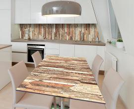 Акция на Виниловая 3D наклейка на стол Zatarga Деревянный паркет 650х1200 мм (Z185172/1st) от Rozetka