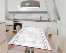 Акция на Виниловая 3D наклейка на стол Zatarga Гипсовый узор 650х1200 мм (Z185130/1st) от Rozetka