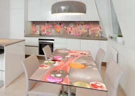 Акция на Виниловая 3D наклейка на стол Zatarga Красочные капли 600х1200 мм (Z183200st) от Rozetka