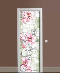 Акция на Виниловая 3D наклейка на дверь Zatarga Цветы карандашом 650х2000 мм (Z185137dv) от Rozetka