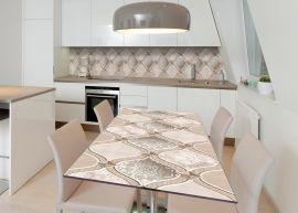 Акция на Виниловая 3D наклейка на стол Zatarga Песочные стразы 600х1200 мм (Z183048st) от Rozetka