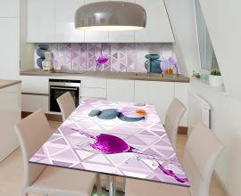 Акция на Виниловая 3D наклейка на стол Zatarga Вино и камни 650х1200 мм (Z185098/1st) от Rozetka