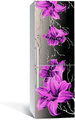 Акция на Виниловая 3D наклейка на холодильник Zatarga Фиолетовые лилии 650х2000 мм (Z182736re) от Rozetka