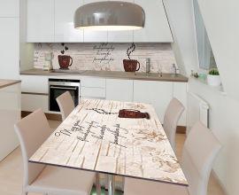 Акция на Виниловая 3D наклейка на стол Zatarga Любимый кофе 600х1200 мм (Z185156st) от Rozetka