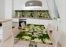 Акция на Виниловая 3D наклейка на стол Zatarga Цветущая кинза 650х1200 мм (Z183145/1st) от Rozetka
