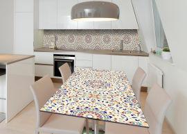 Акция на Виниловая 3D наклейка на стол Zatarga Испанская мозаика 600х1200 мм (Z183234st) от Rozetka