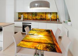 Акция на Виниловая 3D наклейка на стол Zatarga Золотой лес 600х1200 мм (Z183155st) от Rozetka