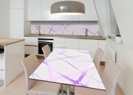 Акция на Виниловая 3D наклейка на стол Zatarga Фиолетовые ленты 600х1200 мм (Z182706st) от Rozetka