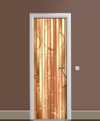 Акция на Виниловая 3D наклейка на дверь Zatarga Бамбуковые жалюзи 650х2000 мм (Z183233dv) от Rozetka