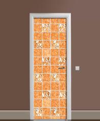 Акция на Виниловая 3D наклейка на дверь Zatarga Осенняя охра 650х2000 мм (Z183194dv) от Rozetka