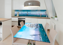 Акция на Виниловая 3D наклейка на стол Zatarga Курс на город мечты 600х1200 мм (Z182574st) от Rozetka