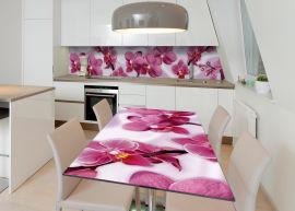 Акция на Виниловая 3D наклейка на стол Zatarga Песни орхидеи 600х1200 мм (Z182660st) от Rozetka