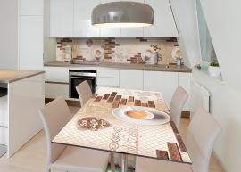 Акция на Виниловая 3D наклейка на стол Zatarga Утренний эспрессо 600х1200 мм (Z182798st) от Rozetka