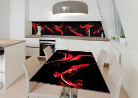 Акция на Виниловая 3D наклейка на стол Zatarga Жгучий огонёк 650х1200 мм (Z182817/1st) от Rozetka