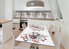 Акция на Виниловая 3D наклейка на стол Zatarga Фруктовый рожок 600х1200 мм (Z182975st) от Rozetka