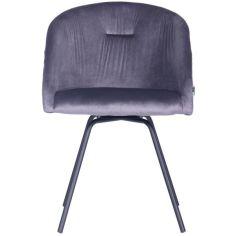 Акция на Кресло поворотное AMF Sacramento черный/велюр серый от Allo UA