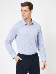 Акция на Рубашка Koton 0YAM69206NW-600 XL Blue (8682263907313) от Rozetka