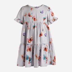 Акция на Платье Garden Baby 45090-70 92 см Серый/Бабочки (4824509070137) от Rozetka