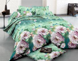 Акция на Комплект постельного белья MirSon Сатин 22-1286 Wonderful flowers Евро (2200003595055) от Rozetka