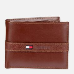 Акция на Мужской кошелек кожаный Tommy Hilfiger 254520631 Красно-коричневый (1159750697) от Rozetka