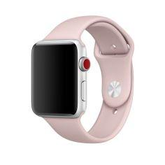 Акция на Cиліконовий ремінець Sport Band для годинника Apple Watch 42mm/44mm Pink Sand   (SB-0064) от Allo UA