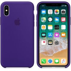 Акция на Панель ArmorStandart Silicone Case для Apple iPhone X/XS Ultra Violet   (ASC-0055) от Allo UA